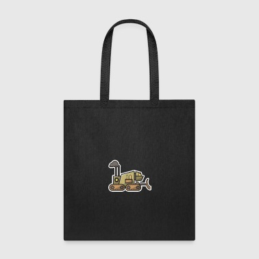 Construction Robot technology bot gift idea robots - Tote Bag