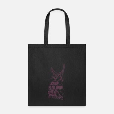 Lenny Patti Smith with Lenny Kaye - Tote Bag