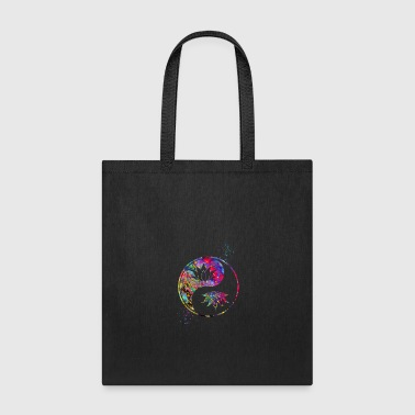 Buddhism Lotus in Yin Yang, Spirituality, Buddhism, Symbol - Tote Bag