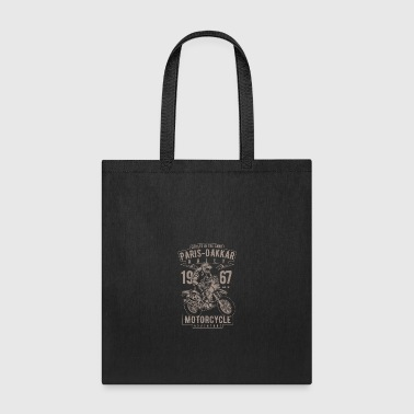Paris Dakkar Rally Motorcycle - Tote Bag