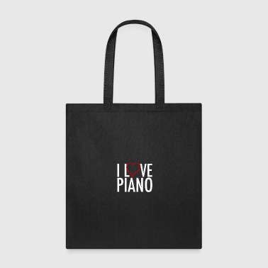 I Love Piano - Tote Bag