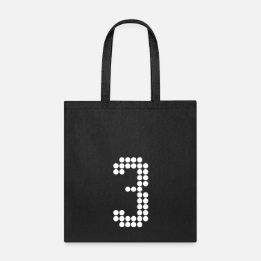 Jersey Number 3, Numbers, Football Numbers, Jersey Numbers - Tote Bag