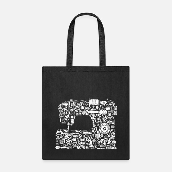Quilting Bags & backpacks - Sewing Quilting Crafting - Tote Bag black