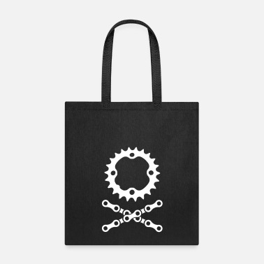 Chain bike chain chainring skull crossbones - Tote Bag