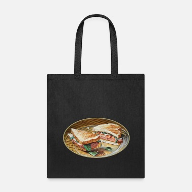 Salami Ham, Salami and Cheese Sandwich - Tote Bag