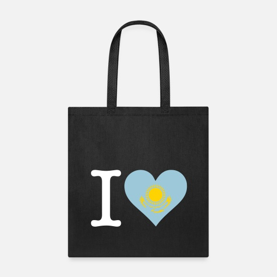 State Bags & Backpacks - I Love Kazakhstan - Tote Bag black