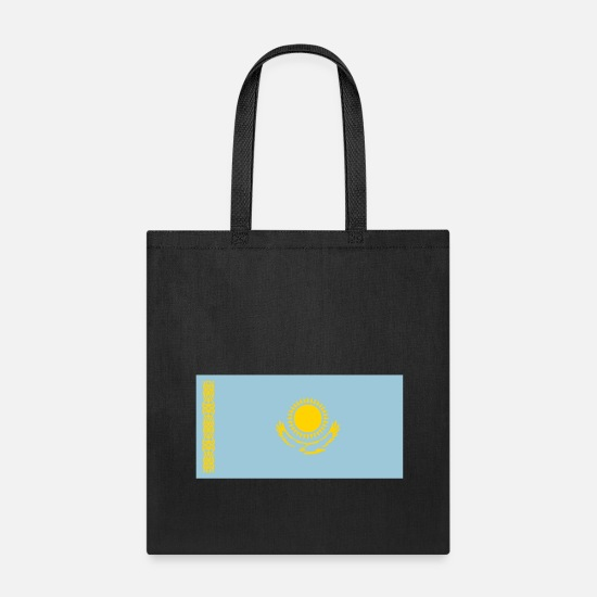 Flag Bags & Backpacks - National Flag Of Kazakhstan - Tote Bag black