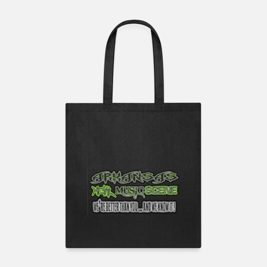 Music Bags & Backpacks - ARKANSAS METAL MUSIC SCENE - Tote Bag black