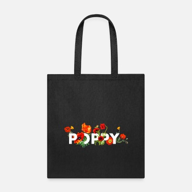 Opium Red Poppy Flower Power Design - Tote Bag