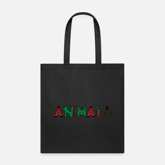 Animal Bags & Backpacks - Animals - Tote Bag black