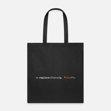 Funny replace hate with love - Tote Bag