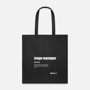 Stage Stage Manager Definition (white) - Tote Bag