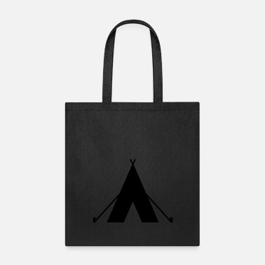 Camp Fire tent - camp - camping fire - Tote Bag