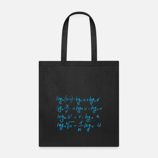 Mathematic Bags & Backpacks - Mathematics, algebra - Tote Bag black