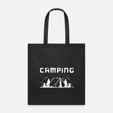 Alps Camping tent Wildlife Sujet white - Tote Bag
