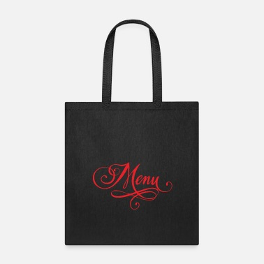 Menu food menu - Tote Bag