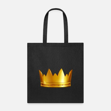 Vip Vip royal golden crown gem king funny vector image - Tote Bag