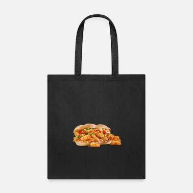 Fried Shrimp Poboy overflowing realistic sandwich - Tote Bag