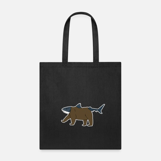 Shark Bags & Backpacks - Bear Shark - Tote Bag black