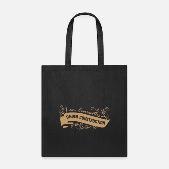Older Bags & backpacks - Adulting product - I am Currently Under - Tote Bag black