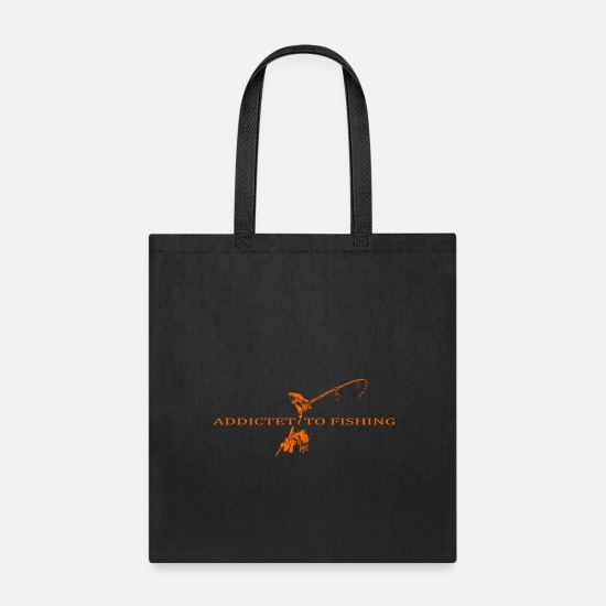 Harbour Bags & Backpacks - addictet to fishing orange - Tote Bag black