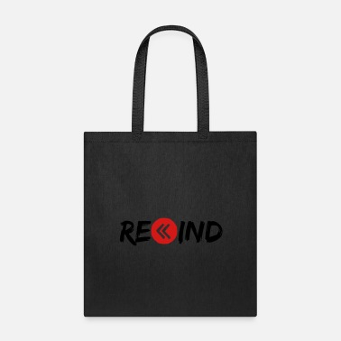 Pause rewind circle music button ring button play pause - Tote Bag