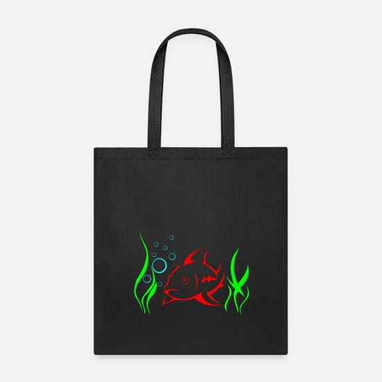 Seafood Bags & Backpacks - fish in the sea - Tote Bag black