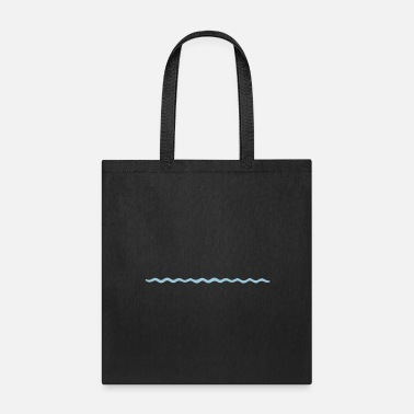 Pool waves line track swimming water sea holiday vacati - Tote Bag