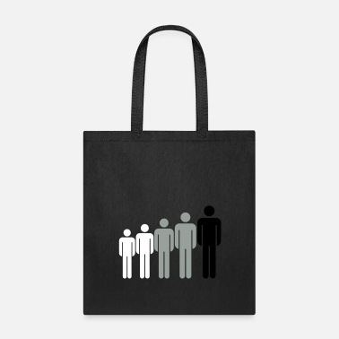 Stand adult big child crew friends grow line many male m - Tote Bag