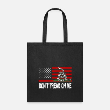 Tread Dont Tread On Me Snake American Flag - Tote Bag