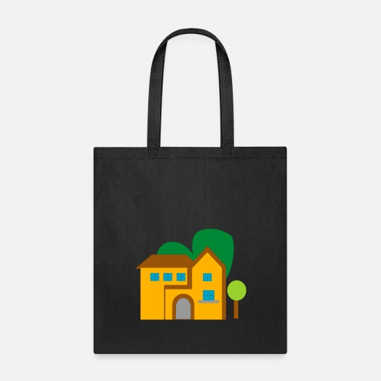 Country Bags & Backpacks - building house homes architektur haus gebaeude271 - Tote Bag black