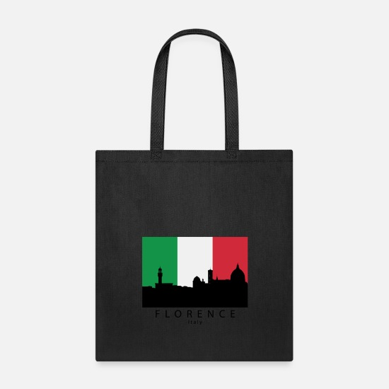 Italian Bags & Backpacks - Florence Italy Skyline Italian Flag - Tote Bag black