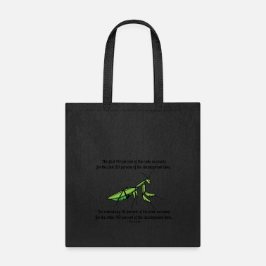 Nineties Ninety-Ninety Rule of Code - Tote Bag