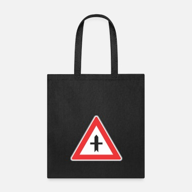 Light Road_sign_red_triangle_both_side_direction - Tote Bag