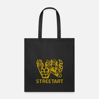 Bboy Graffiti gold faces heads streetart urban style - Tote Bag