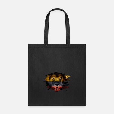 Colombia Colombia Flag & African Lion Picture - Tote Bag
