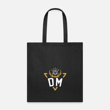 Master Polyhedral D20 Dice DM Badge Tabletop RPG - Tote Bag