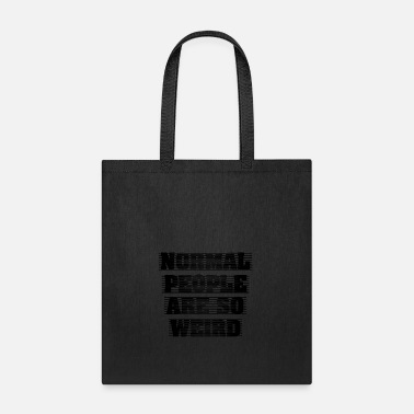 Black People GIFT - NORMAL PEOPLE BLACK - Tote Bag