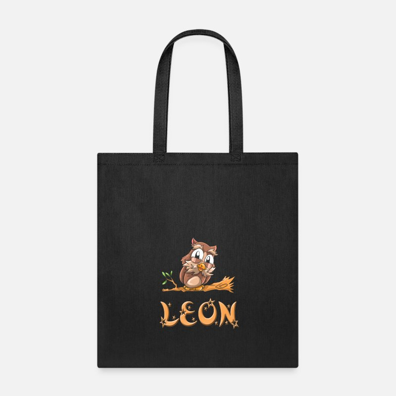 Leonardo Bags & backpacks - Leon Owl - Tote Bag black