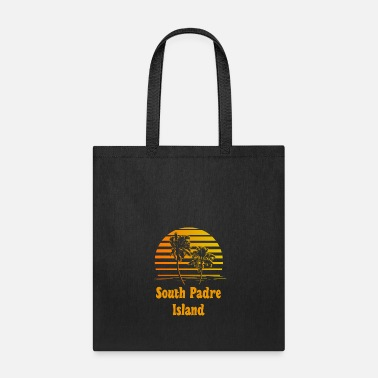 South Padre Island South Padre Island Texas Sunset Palm Trees - Tote Bag