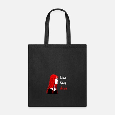 Kiss red lips Girl - Tote Bag