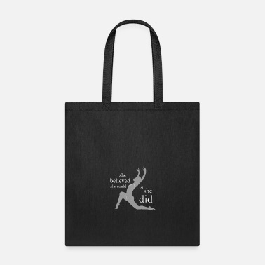 Modern Modern Dance She Believed She Could for dark square - Tote Bag