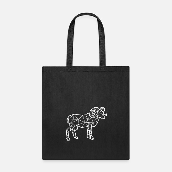 Gift Idea Bags & Backpacks - Geometric Ram - Tote Bag black