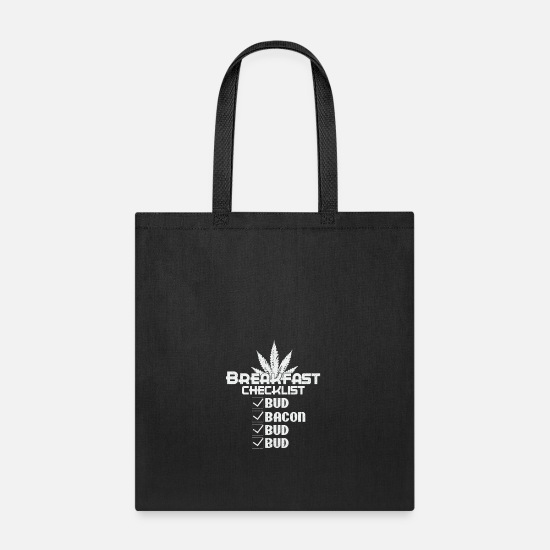 Buds Bags & Backpacks - Breakfast Checklist Bud & Bacon - Tote Bag black