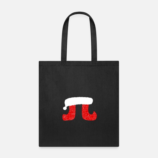 Christmassy Bags & Backpacks - Pi Christmas Math Science Algebra - Tote Bag black