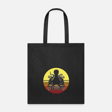 Ink Octopus Blue Shallows water Squid - Tote Bag