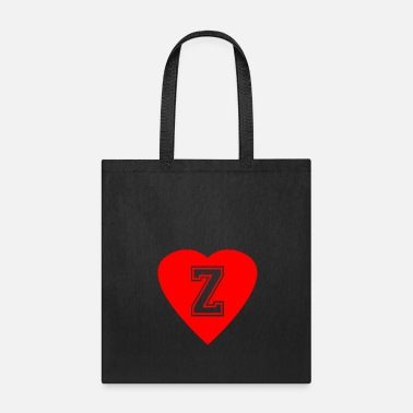 Birth Name Heart Letter Z Name Initials Spelling Gift Idea - Tote Bag