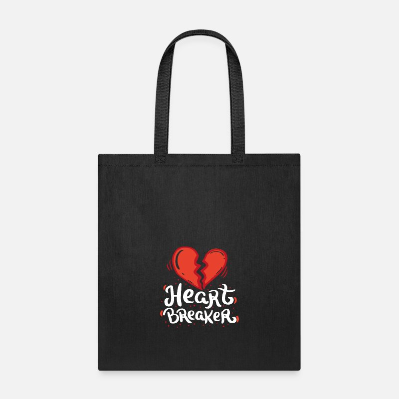 Love Bags & backpacks - VALENTINE'S DAY Heart Breaker - Tote Bag black