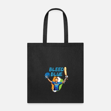International Match Indian Cricket Team Supporters Bleed in Blue - Tote Bag