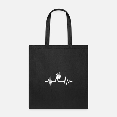 Judo judo fighter heartbeat - Tote Bag